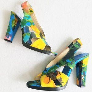 BALENCIAGA Slingback Sandal Heels Size 38/7